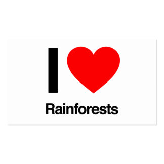 i love rainforests business card template