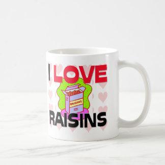 I Love Raisins Coffee Mugs
