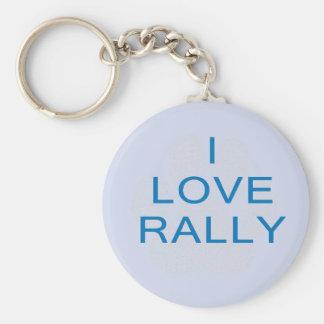 I Love Rally Basic Round Button Key Ring