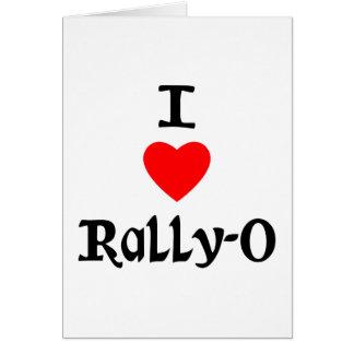 I Love Rally-O Greeting Cards