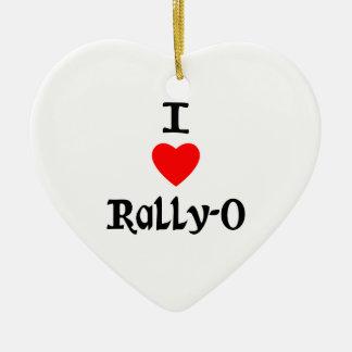 I Love Rally-O Christmas Tree Ornaments