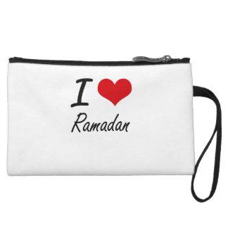 I Love Ramadan Wristlet Purse