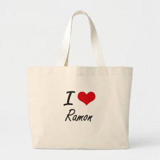 I Love Ramon Jumbo Tote Bag