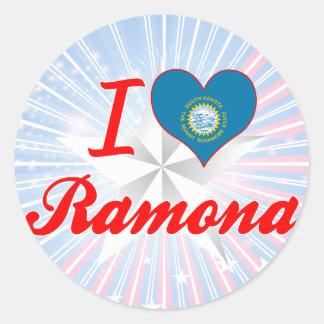 I Love Ramona, South Dakota Sticker