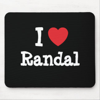 I love Randal heart custom personalized Mouse Pad