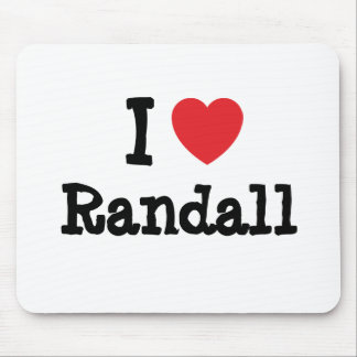 I love Randall heart custom personalized Mouse Pads