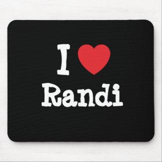 I love Randi heart T-Shirt Mouse Mats