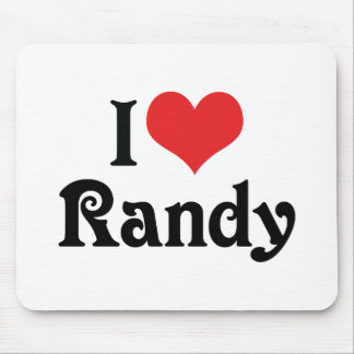 I Love Randy Mouse Pad