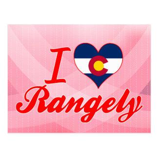 I Love Rangely, Colorado Postcard