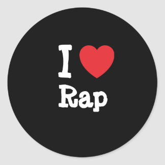 I love Rap heart custom personalized Stickers
