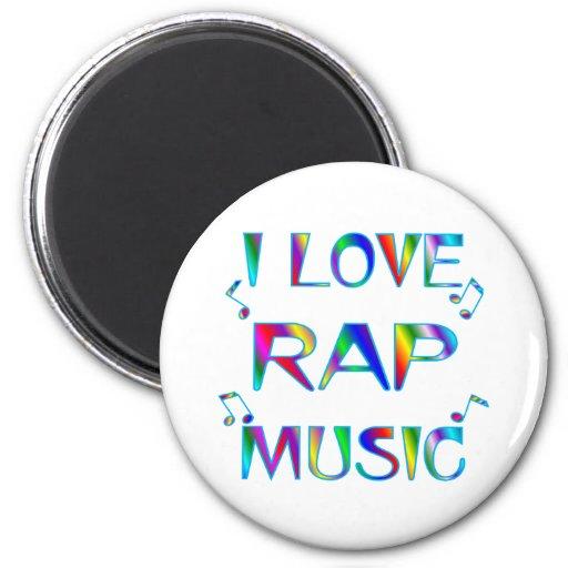I Love Rap Fridge Magnet