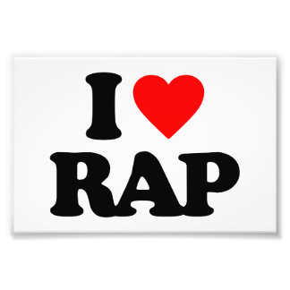 I LOVE RAP PHOTO PRINT