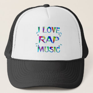 I Love Rap Trucker Hat