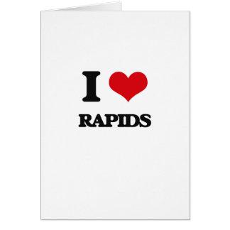 I Love Rapids Greeting Card