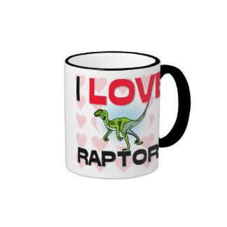 I Love Raptors Ringer Mug