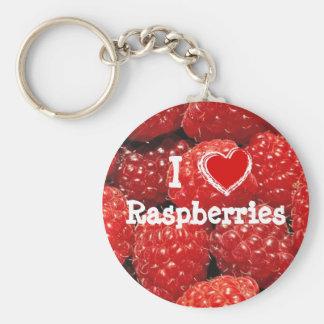 I Love Raspberries Key Ring
