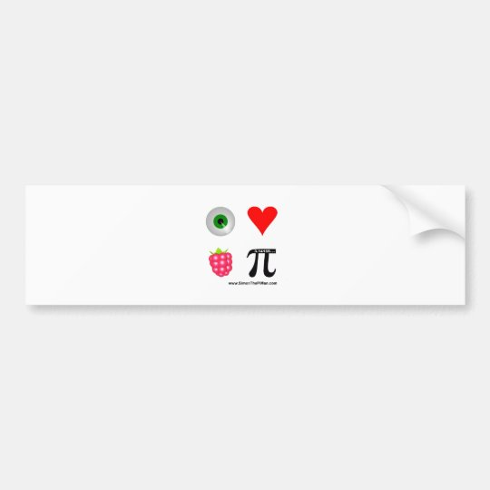I love Raspberry - www.SimonThePiMan.com Bumper Sticker