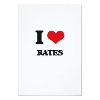 "I Love Rates 3.5"" X 5"" Invitation Card"