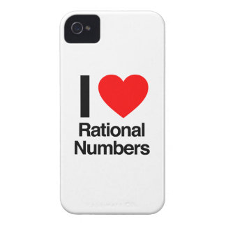 i love rational numbers iPhone 4 Case-Mate cases