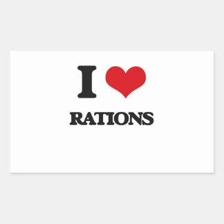 I Love Rations Rectangular Sticker