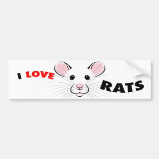 I Love Rats Bumper Sticker