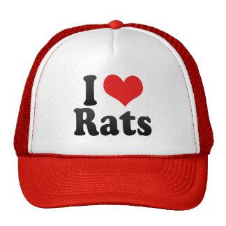 I Love Rats Cap