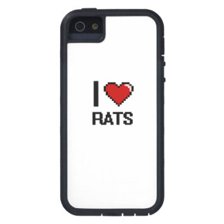 I love Rats Digital Design Cover For iPhone 5