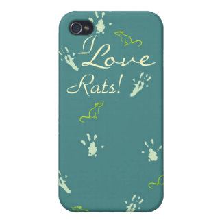 I love Rats iPhone case iPhone 4 Cases