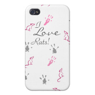 I love Rats iPhone case iPhone 4 Case