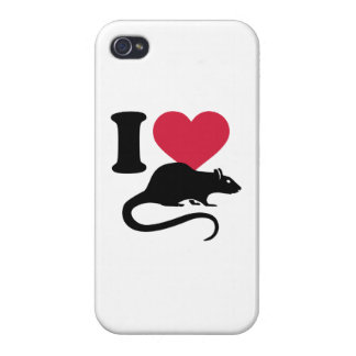 I love Rats iPhone 4/4S Cover