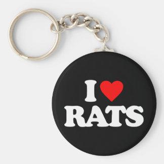 I LOVE RATS KEY RING