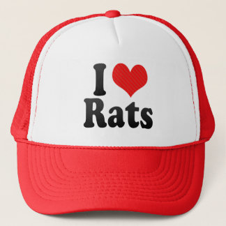 I Love Rats Trucker Hat