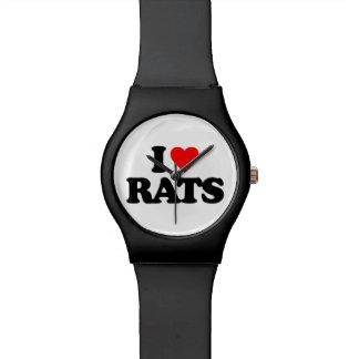 I LOVE RATS WRIST WATCH