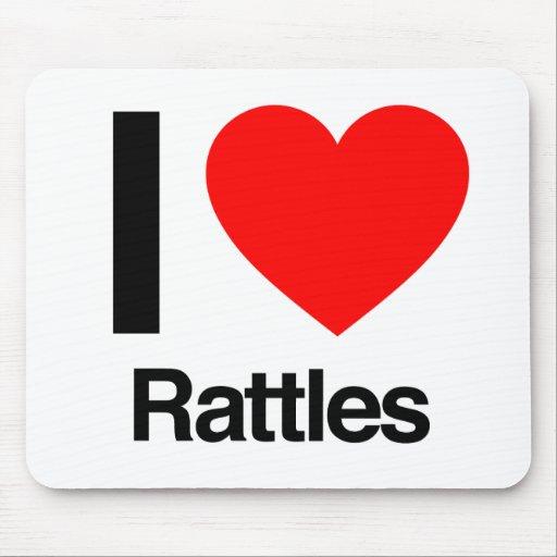 i love rattles mousepads