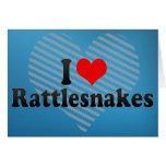 I Love Rattlesnakes Greeting Card