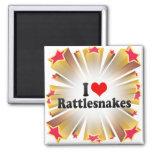 I Love Rattlesnakes Magnet