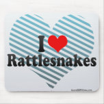 I Love Rattlesnakes Mouse Pads