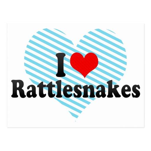 I Love Rattlesnakes Postcard