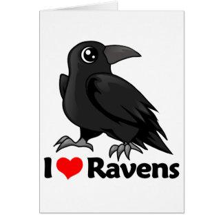 I Love Ravens Card