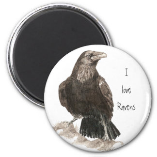 I love Ravens Fridge Magnet