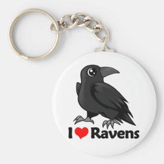 I Love Ravens Key Ring