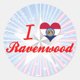 I Love Ravenwood, Missouri Round Stickers