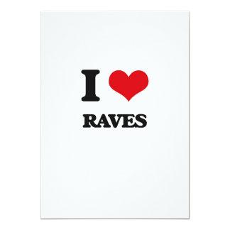 I Love Raves 13 Cm X 18 Cm Invitation Card