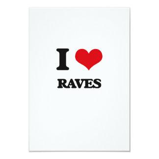 "I Love Raves 3.5"" X 5"" Invitation Card"