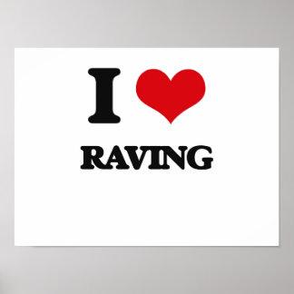 I Love Raving Poster