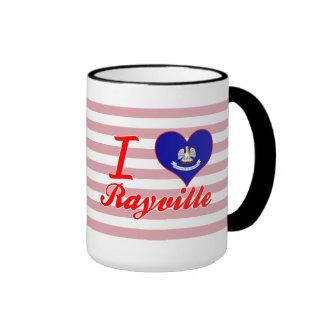 I Love Rayville, Louisiana Ringer Coffee Mug
