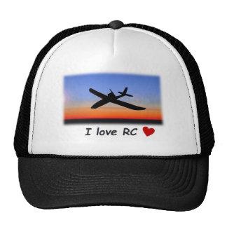 I love RC flying cap Mesh Hat