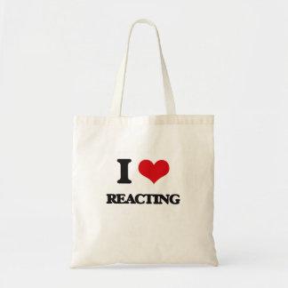 I Love Reacting Canvas Bag