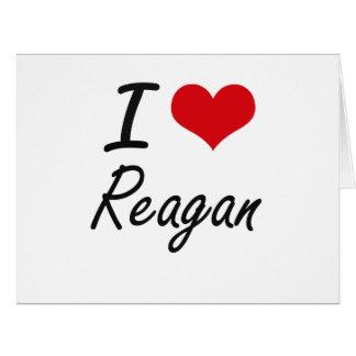 I Love Reagan artistic design Big Greeting Card