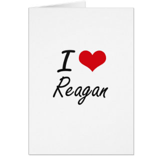 I Love Reagan artistic design Greeting Card